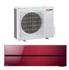 Mitsubishi Klimagerät M-Serie Wand MSZ-LN50 VG2R Farbe: Ruby Red 5,0 kW